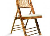 Cadeira dobrável bambu