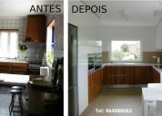 Remodelação de cozinhas.